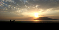 Sunrise over lake Natron