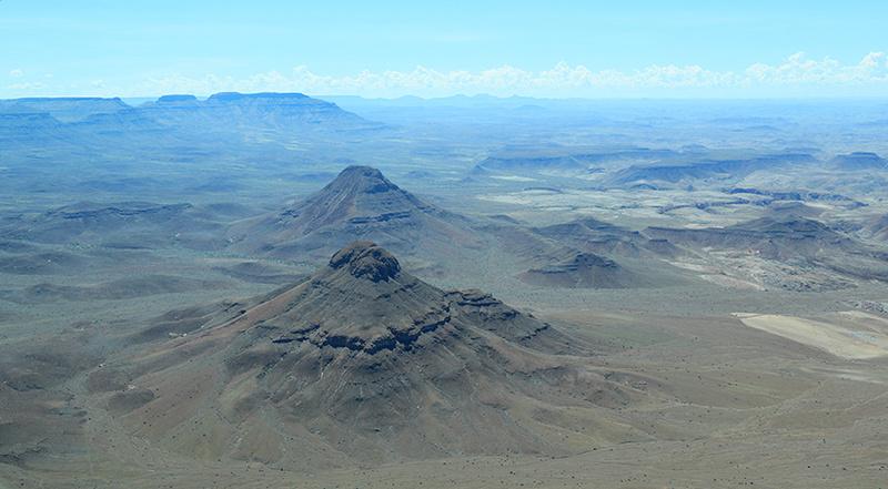 Flying over Namibia