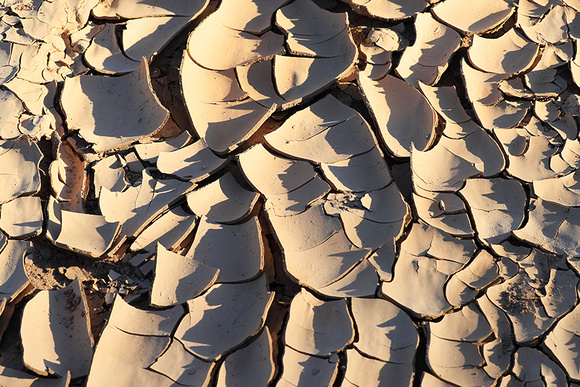 Dry mud in the river bed - Namibia