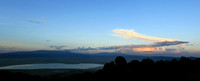 Sunset in the crater of Ngorongoro