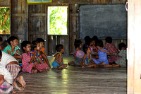 Classroom in a Chin ethnic village - Myanmar