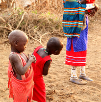 In a traditional Masaï village - South Rift valley